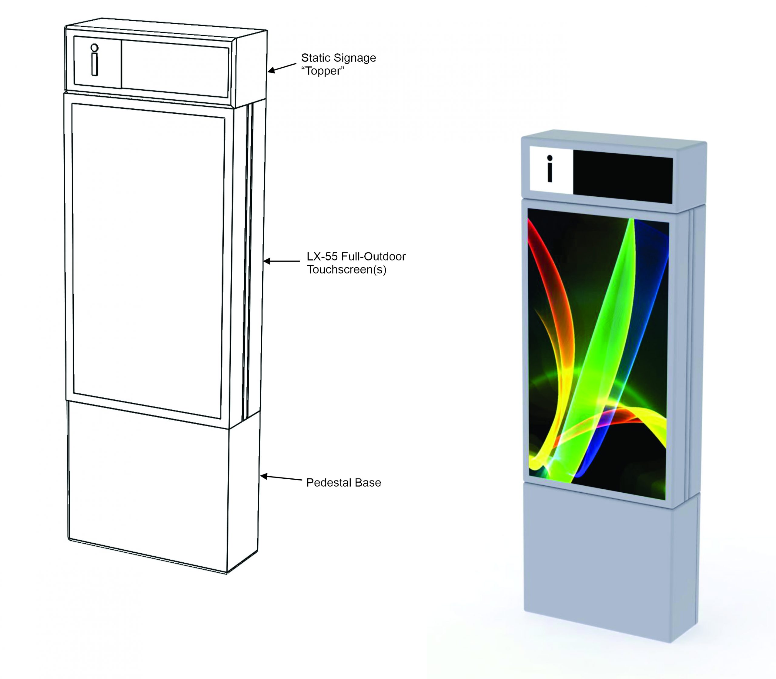 Modular Free-Standing Kiosk System